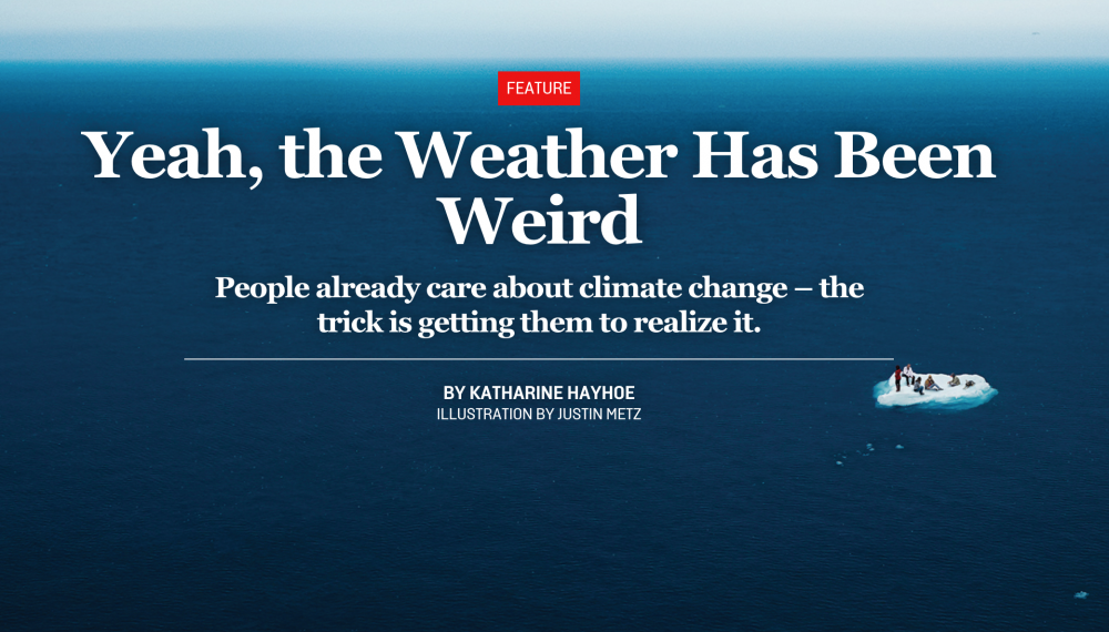People already care about climate change – my foreign policy essay