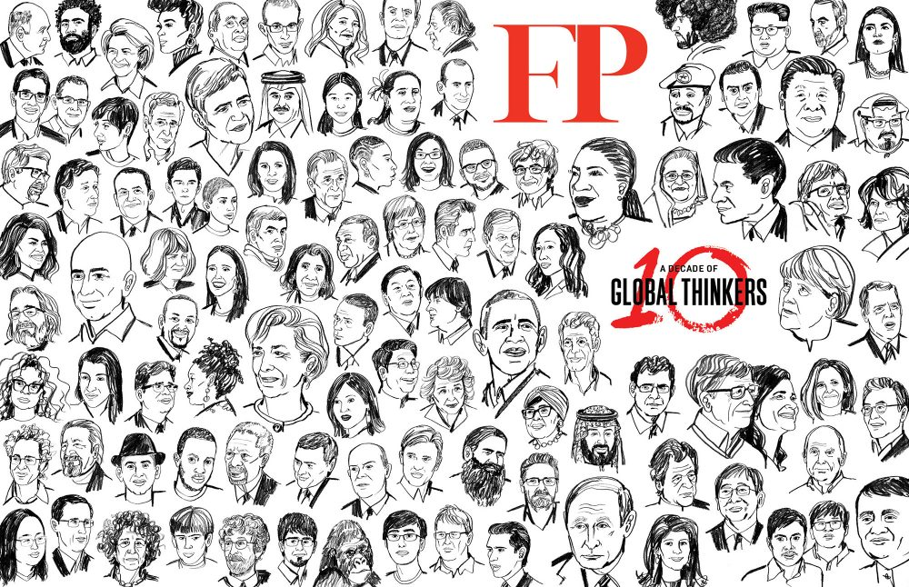 Foreign Policy's 100 Global Thinkers of 2019