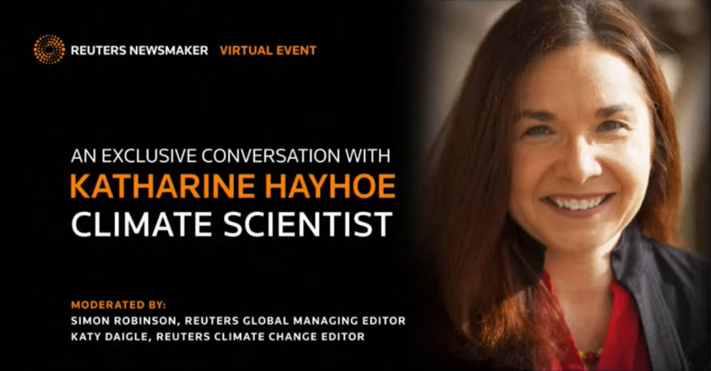 LIVE: Climate scientist Katharine Hayhoe joins Reuters discussion on climate change